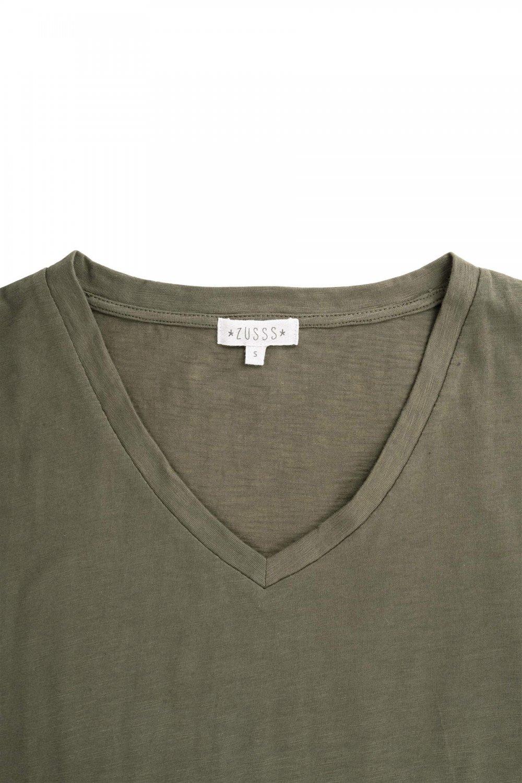 Zusss basic t shirtjurk Groen