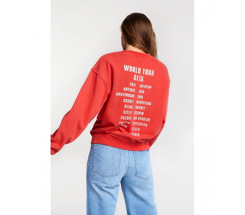 ALIX the label On tour sweater Red Siezz